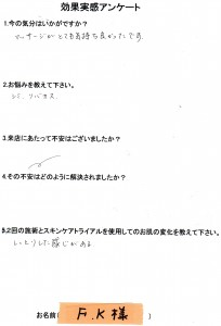 効果実感アンケート(3)